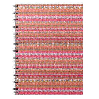 Mysore Silk Fabric Print Pattern from India Unique Spiral Note Books