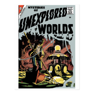 Mysteries of Unexplored Worlds Postcard