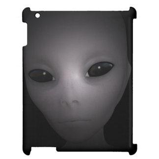 Mysterious black Alien iPad Case