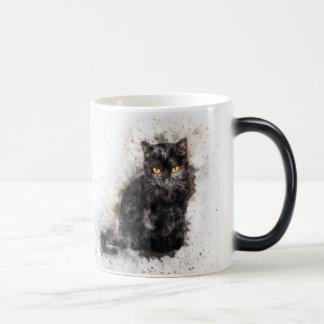 Mysterious Black Cat Magic Mug