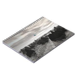 Mysterious Blue Orbs Spiral Notebook