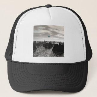 Mysterious Blue Orbs Trucker Hat