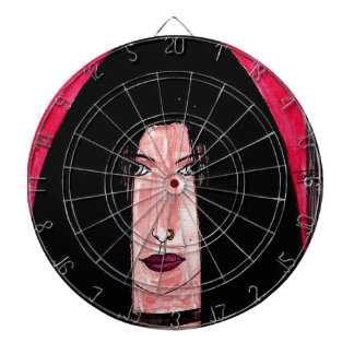 Mysterious Brunette Dartboard