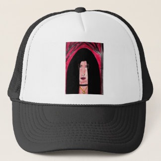 Mysterious Brunette Trucker Hat