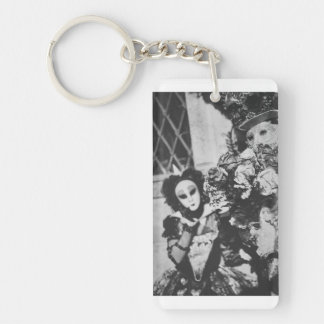 Mysterious carnival masks in Venice, Italy Key Ring