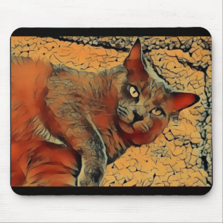 Mysterious Cat Mouse Pad