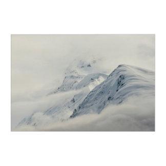 Mysterious Chugach Peaks Acrylic Wall Art