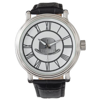 Mysterious Derby Leather Strap Watch
