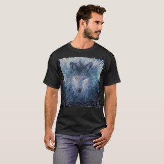 Mysterious Ghost Wolf Men's Basic Dark T-Shirt