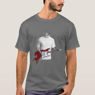 Mysterious Guitar Player | Melting Guitar T-Shirt