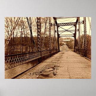 Mysterious Iron Bridge Poster