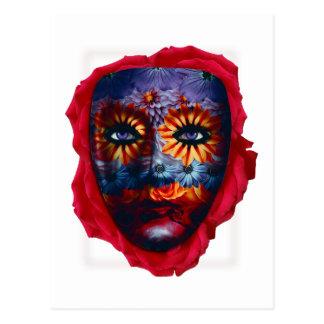 Mysterious mask - Mystery Mask Postcard