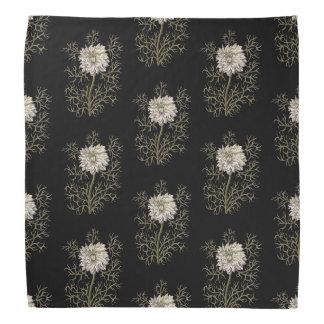 Mysterious Medieval Flower Pattern Bandana