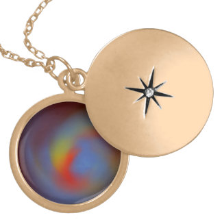 Mysterious Planet princess necklace. Round Locket Necklace