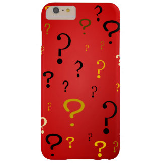 Mysterious Question Marks Barely There iPhone 6 Plus Case