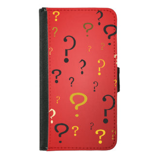 Mysterious Question Marks Samsung Galaxy S5 Wallet Case