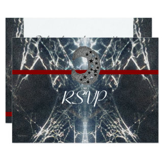 Mysterious Web Goth Gothic Black Red Handfasting Card