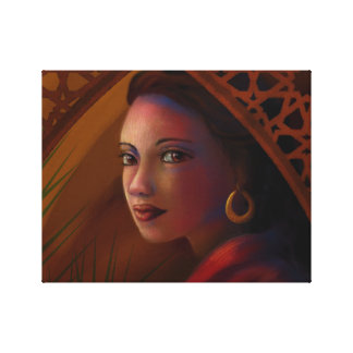 Mysterious Woman Canvas Print