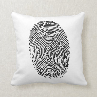 Mystery Black Fingerprint Cushion