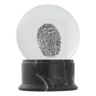Mystery Black Fingerprint Snow Globe