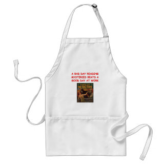 mystery book aprons