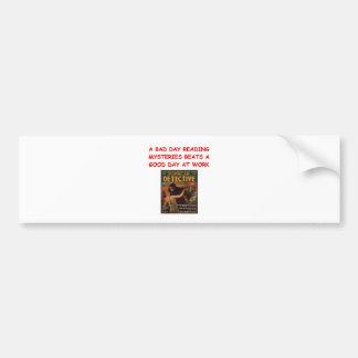 mystery book bumper stickers