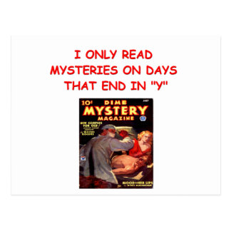 mystery book post cards