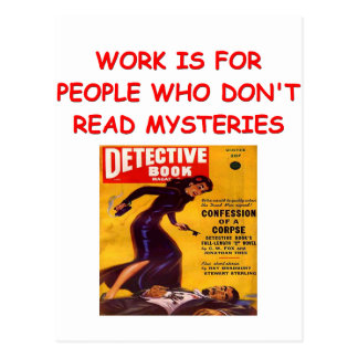 mystery book post card