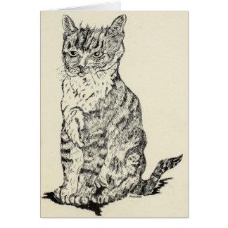 Mystery Cat Card