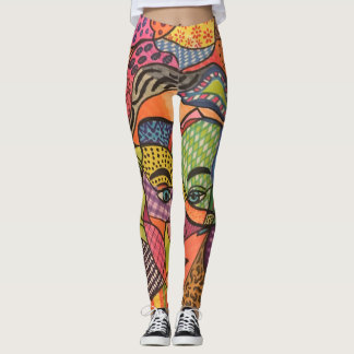 Mystery face leggings