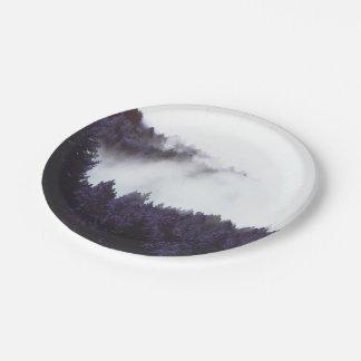 "Mystery Fog paper plate 7"""
