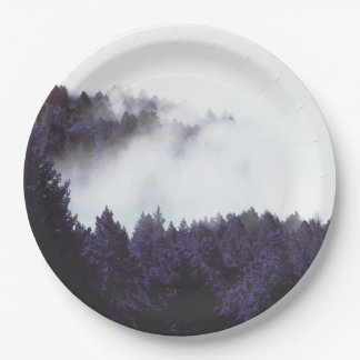 """Mystery Fog paper plate 9"""" 9 Inch Paper Plate"""