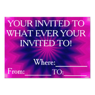 mystery invitation card