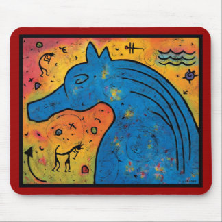 "Mystery of Blue Horse Mouse Pad - 9.25"" x 7.75"""