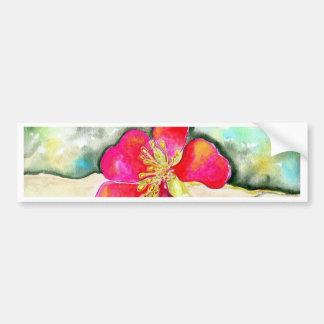Mystery Pink Flower Watercolor Bumper Sticker