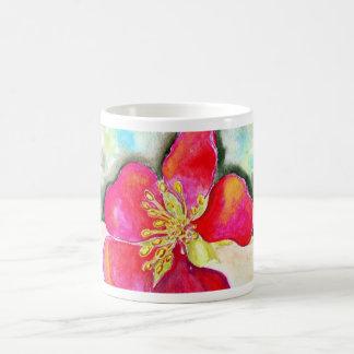 Mystery Pink Flower Watercolor Coffee Mug