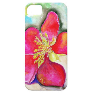 Mystery Pink Flower Watercolor iPhone 5 Case