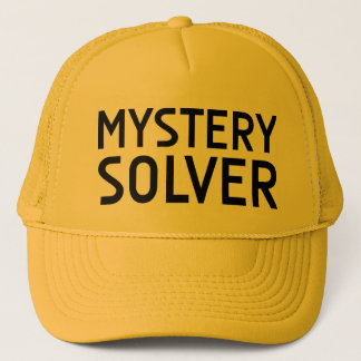 MYSTERY SOLVER fun slogan hat