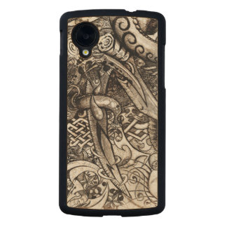 Mystic Blades Intricate Detailed Hand Drawing Carved® Maple Nexus 5 Case
