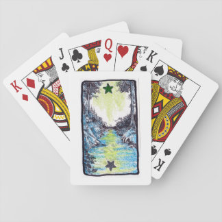 Mystic Blue Path Playing Cards