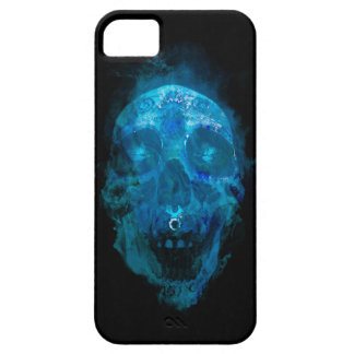 Mystic Blue Sugar Skull Barely There iPhone 5 Case