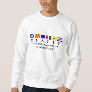 Mystic, CT - Longtitude & Latitude Sweatshirt