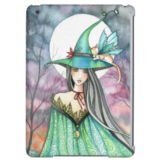 Mystic Duo Cat Fairy and Witch Fantasy Art