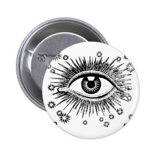 Mystic Eye Sees All 6 Cm Round Badge