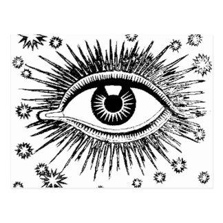 Mystic Eye Sees All ICU Postcard