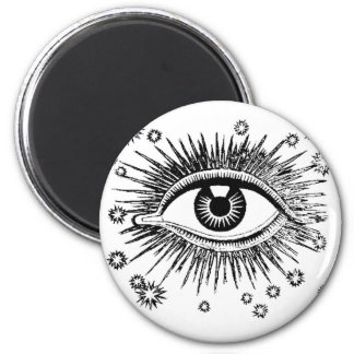 Mystic Eye Sees All 6 Cm Round Magnet