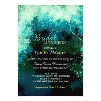 Mystic Forest Bridal Shower Luncheon 13 Cm X 18 Cm Invitation Card
