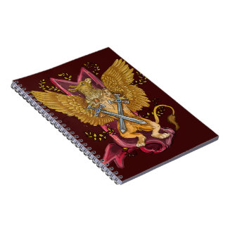 Mystic Gryphon with swords Notebook