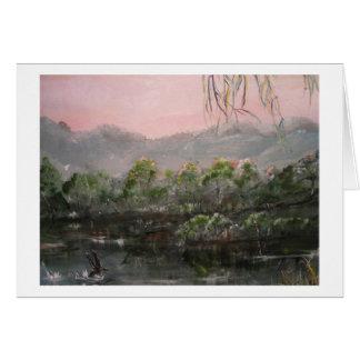 """Mystic Lake"" Horizontal Notecard"