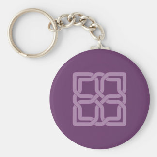 Mystic Lilac celtic knot Basic Round Button Key Ring